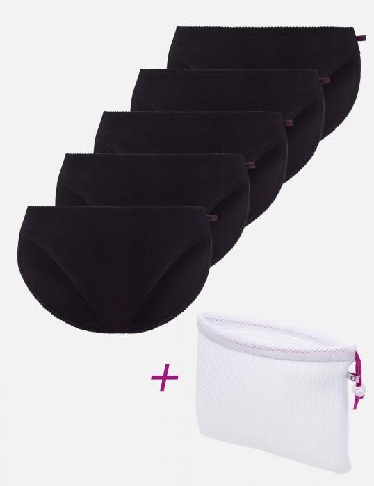Rock'n'Roll Tai (5-er Pack) schwarz Vorteilspack