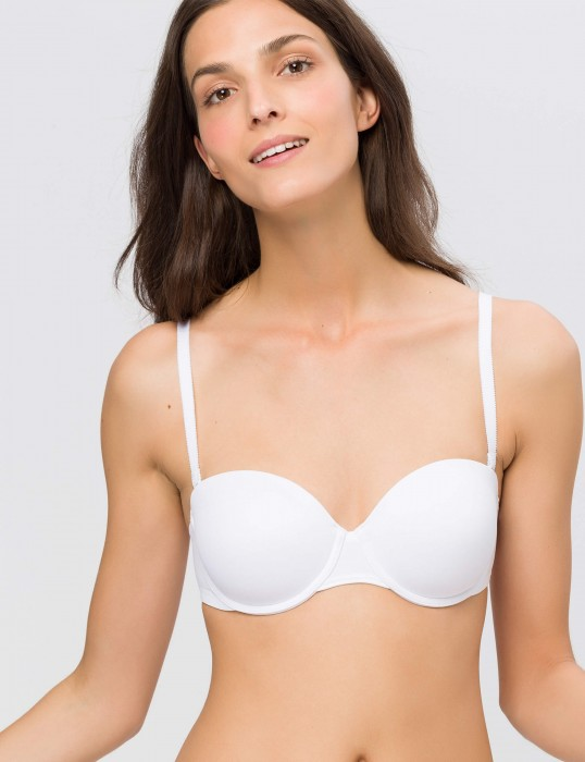Stepy Soft WDP by BeeDees   Multiway BH weiß   front